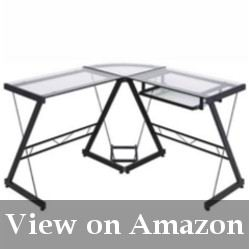 Glass and Metal Corner Computer Desk Review
