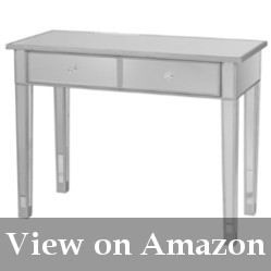 Glass Writing Desk With Drawers Reviews