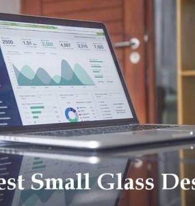 small glass desk guide