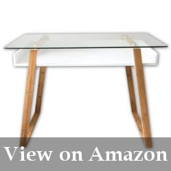 White Desk With a Glass Top Reviews