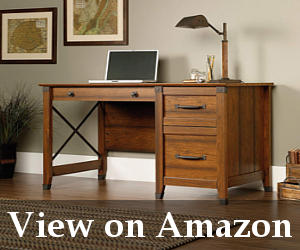 large writing desk with drawers reviews