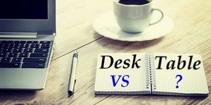 desk vs table difference