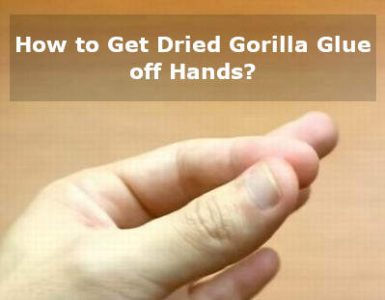 how to get dried gorilla glue off hands